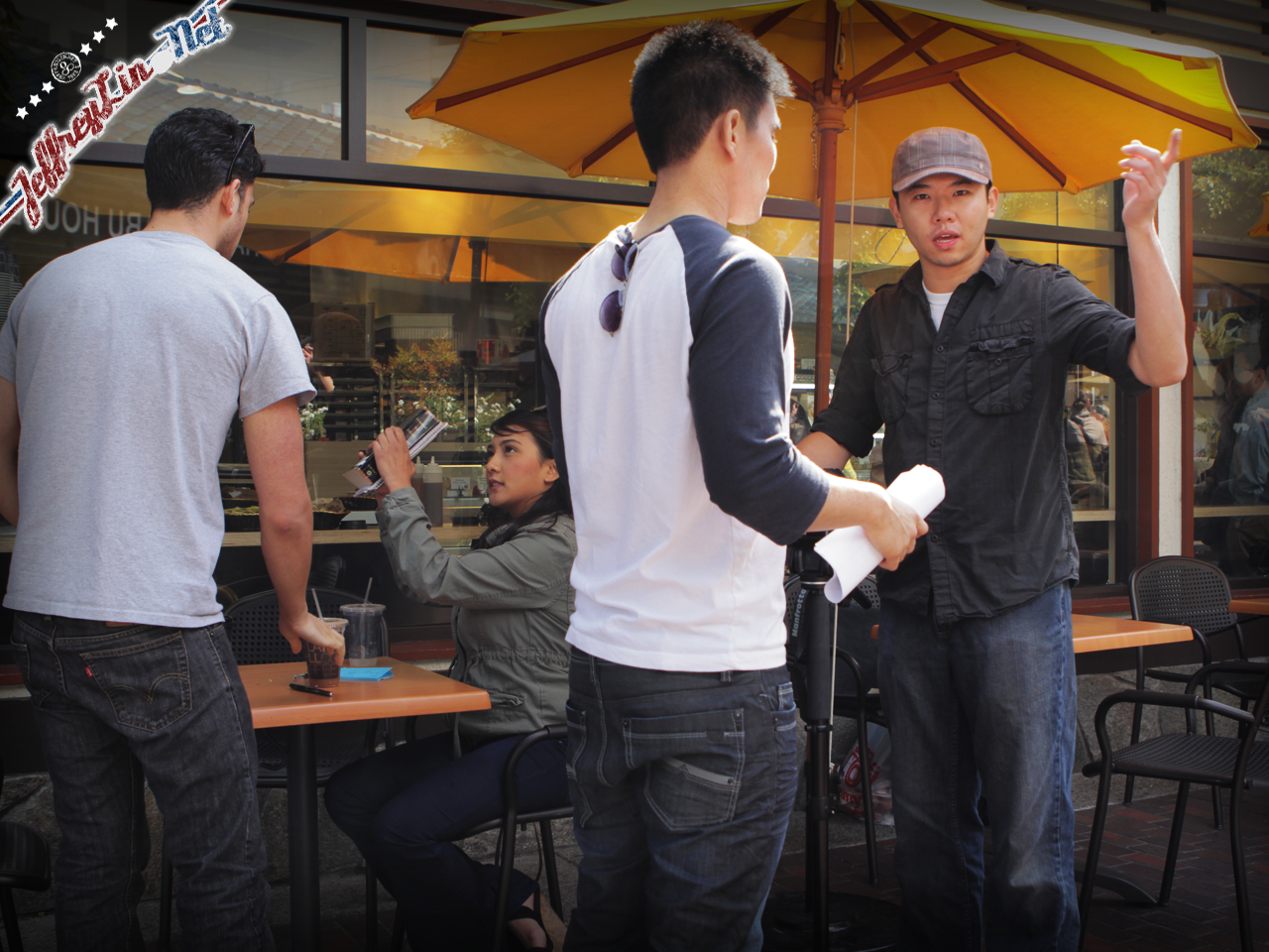 shanekanoa behind the scenes - just one glance - cafe dulce - Shane, Henry Chen, Jourdan Quevedo, Diana Tang
