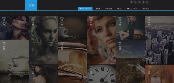 Darx - Responsive Dark Portfolio WordPress Theme