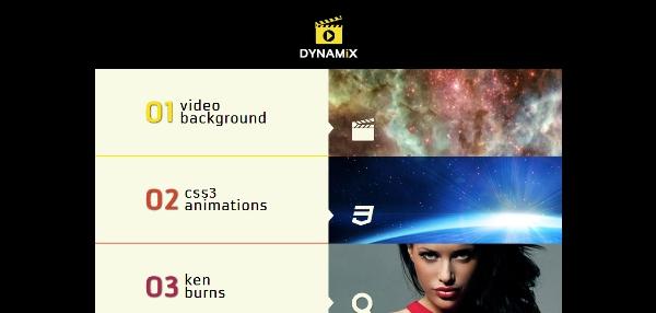 Dynamix Retina Full Screen Background WP Theme