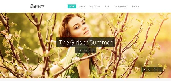 Everest Responsive Portfolio WordPress Theme