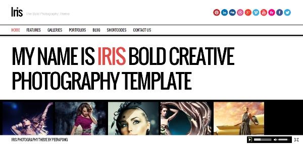 Iris Bold Photography Portfolio Theme