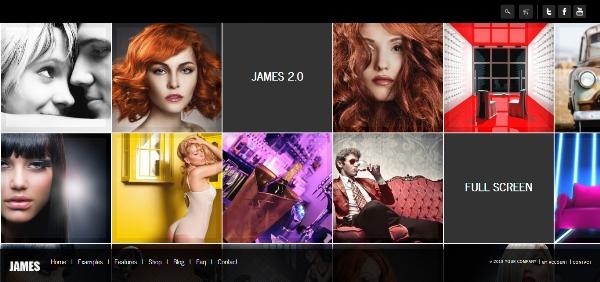James 2.0 – Responsive Full Screen Portfolio Woocommerce Theme
