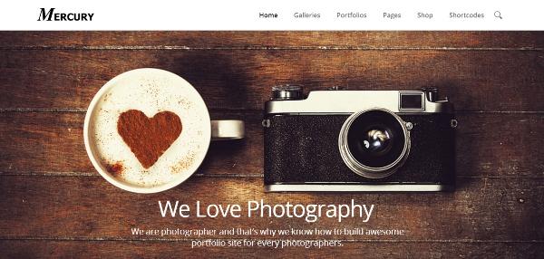 Mercury Responsive Portfolio Photography Theme