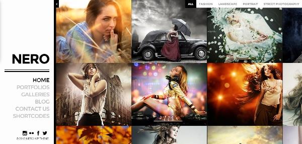 Nero Responsive Portfolio Photography Theme