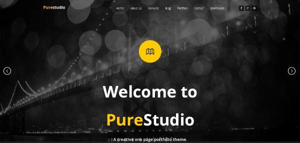 PURESTUDIO - WordPress, One Page Parallax Theme