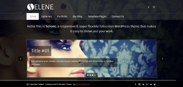Selene - Fullscreen Premium WordPress Theme