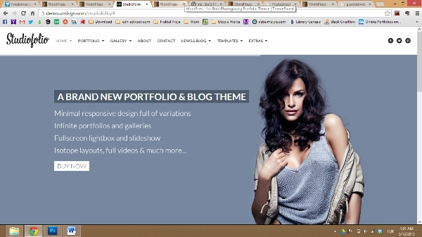 Studiofolio A Versatile Portfolio and Blog Theme
