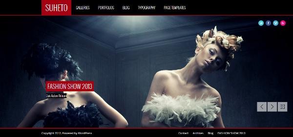 Suheto – Responsive Fullscreen Photography and Portfolio WordPressTheme