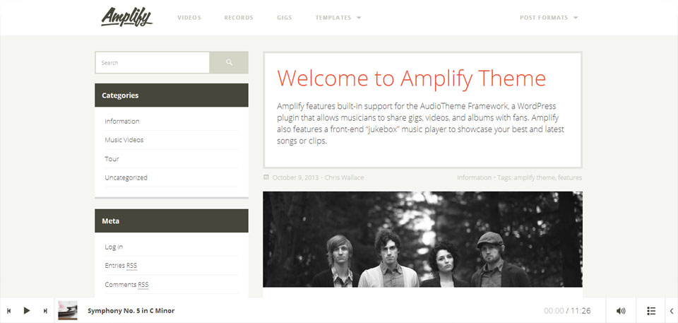 Amplify WordPress Theme