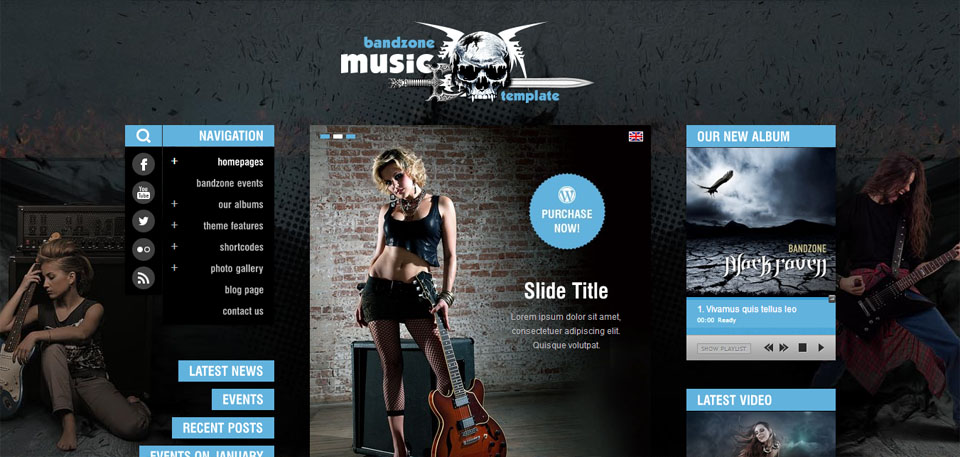 Bandzone WordPress Theme made by Musicians