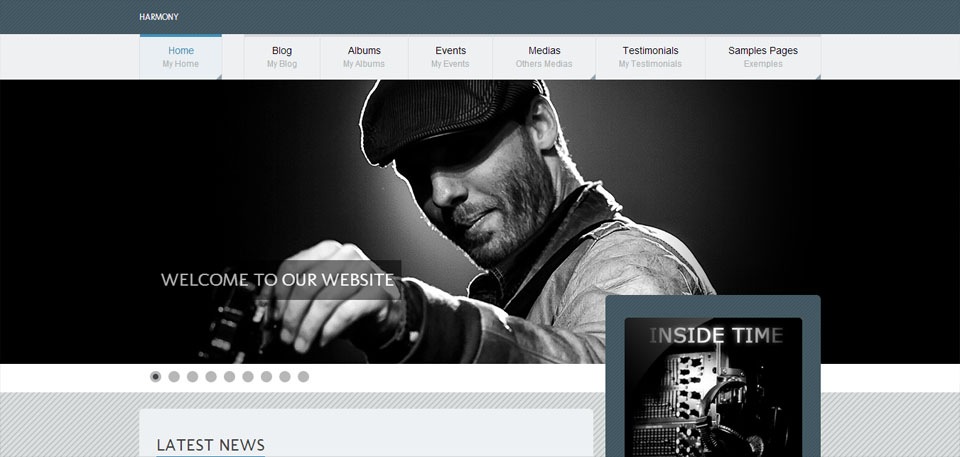 Harmony – Music Premium WordPress Theme
