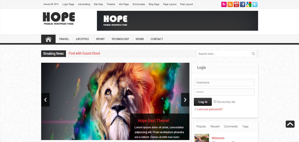 Hope News Magazine WordPress Theme