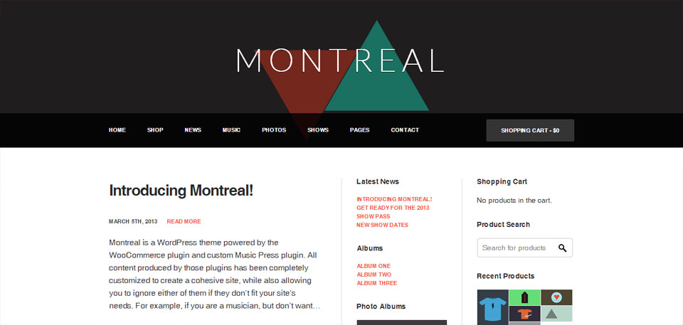Montreal - WooCommerce Powered Music Theme
