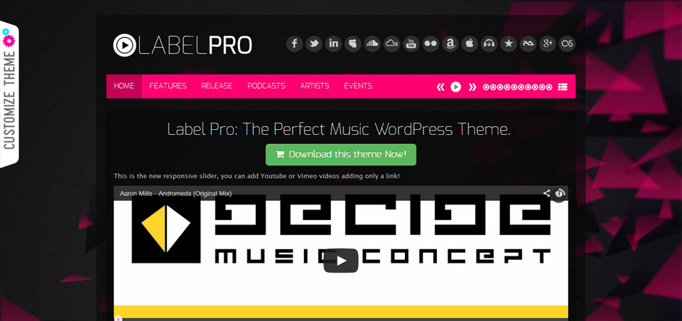 Music Label Pro Responsive Music WordPress Theme