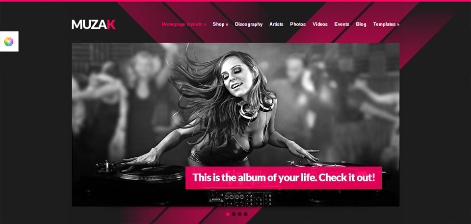 Muzak - Music Premium WordPress theme