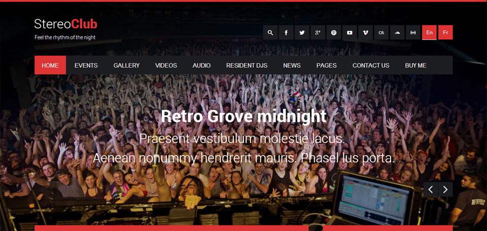 StereoClub NightClub & Band WordPress Theme