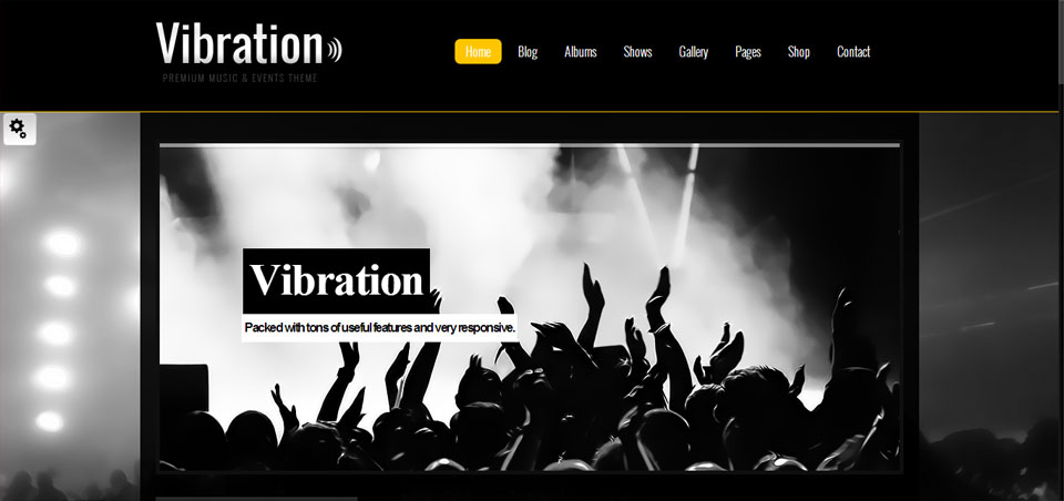 Vibration - Responsive Music & Events Theme
