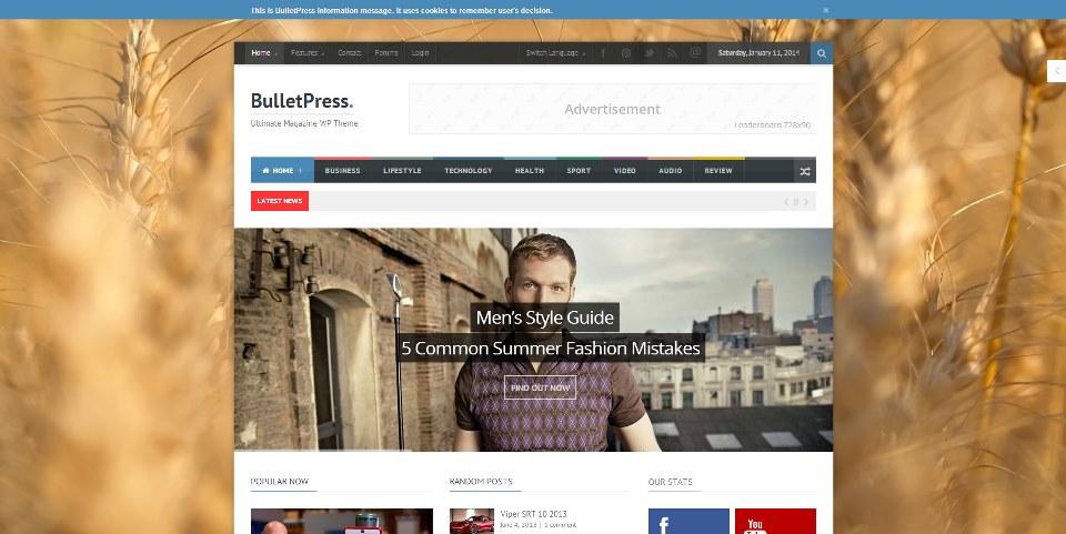 BulletPress – Ultimate Magazine WP Theme