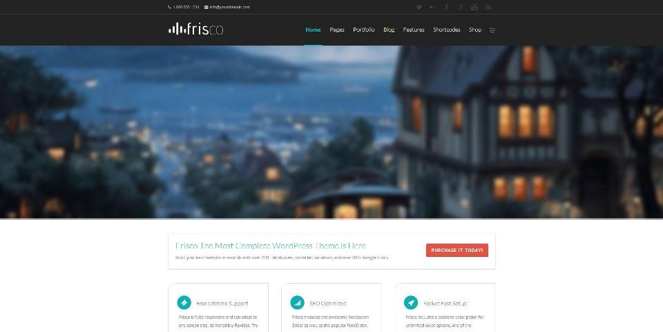 Frisco – Responsive Multi-Purpose WordPress Theme