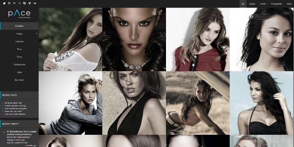 Pace – Stylish Portfolio and Blog WordPress Theme
