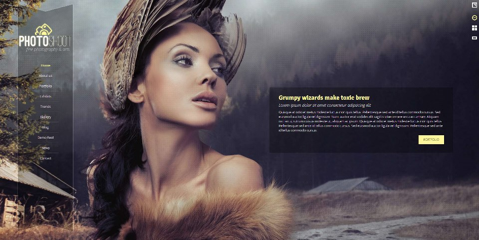 Photoshoot - Wordpress Creative Portfolio