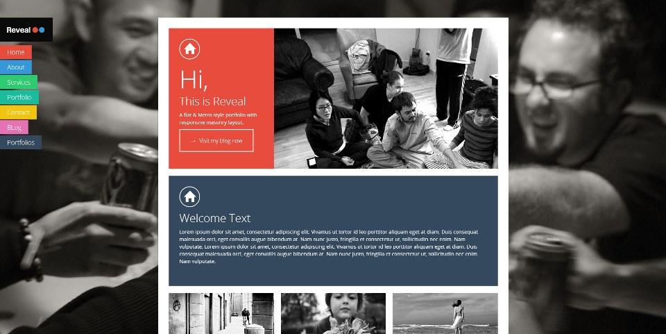 Reveal – Flat & Metro Masonry WordPress Theme