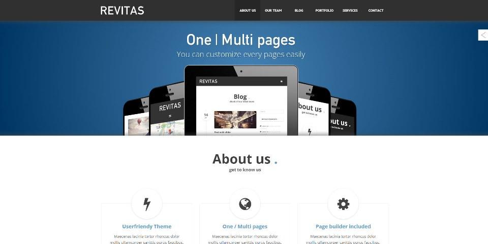 Revitas – One / Multi pages WordPress Theme