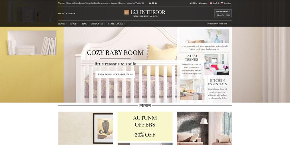 123Interior eCommerce WordPress Theme