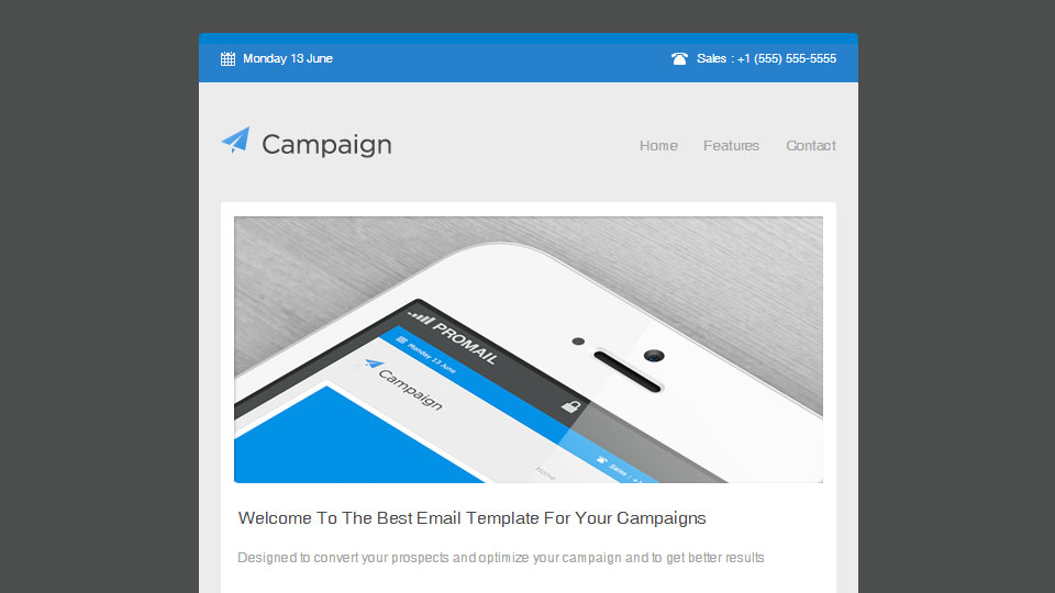 Campaigner - Responsive Email Template
