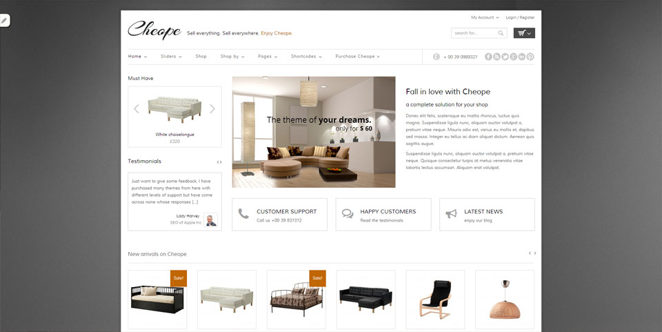 Cheope Shop - Flexible e-Commerce Theme
