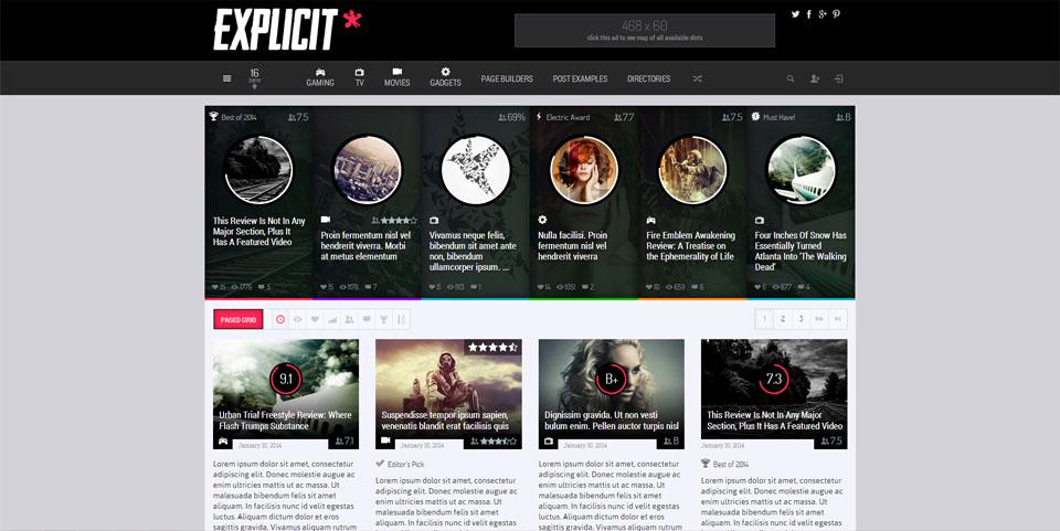 Explicit - High Performance Review Magazine Theme