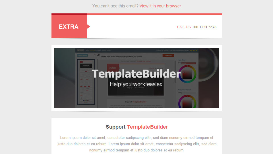 Extra - Responsive E-mail Template