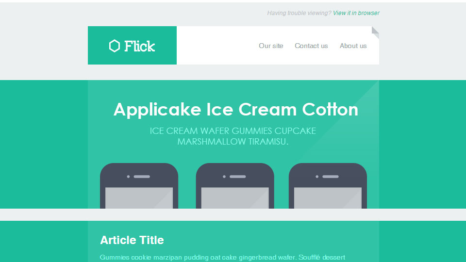 Flick - Responsive E-mail Template