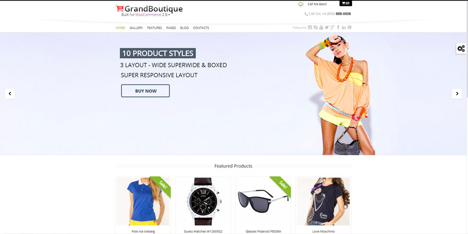 GrandBoutique – Multi-Purpose Shop Theme