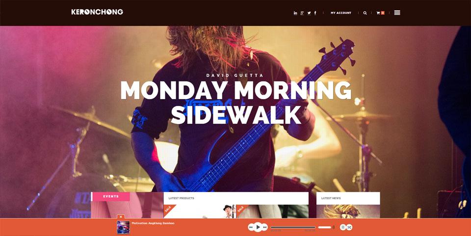 Keronchong – Bands & Musicians WooCommerce Theme