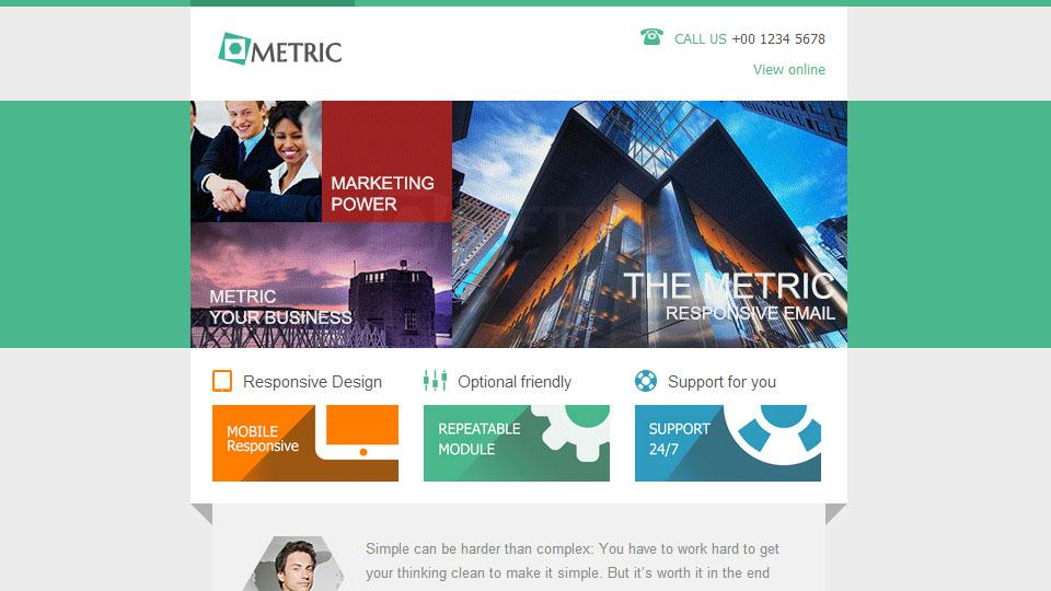 Metric - Responsive E-mail Template