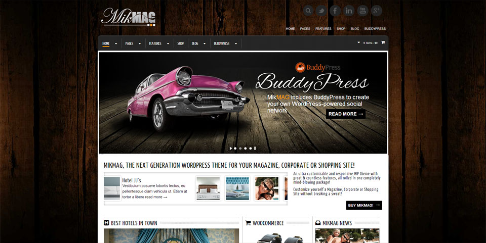 MikMag - Responsive, Buddypress and Woocommerce