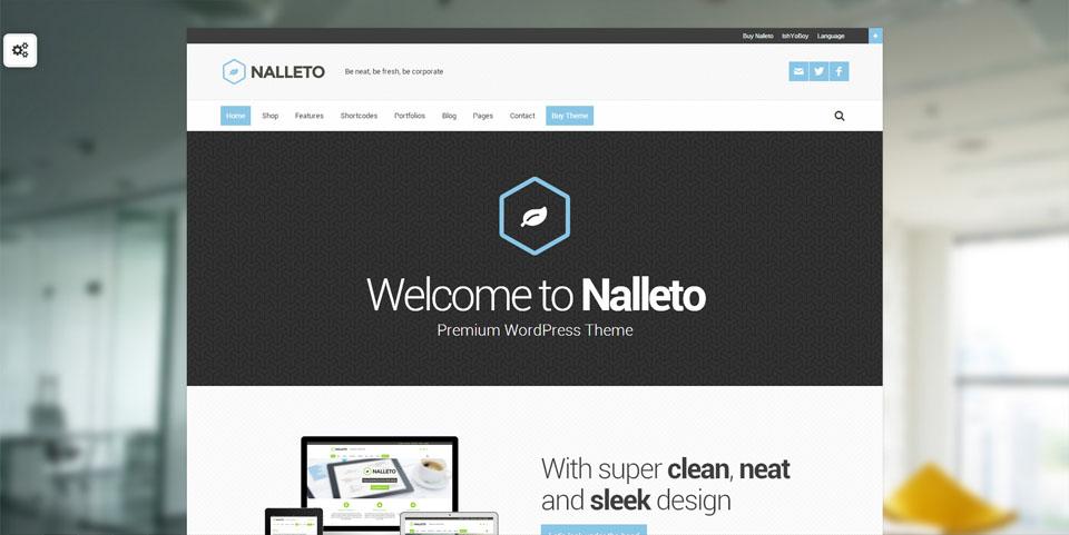 Nalleto WP – Responsive corporate theme with e-commerce