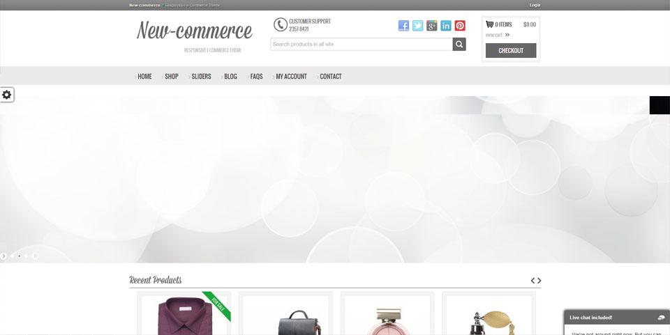 New-commerce – Responsive e-Commerce Theme