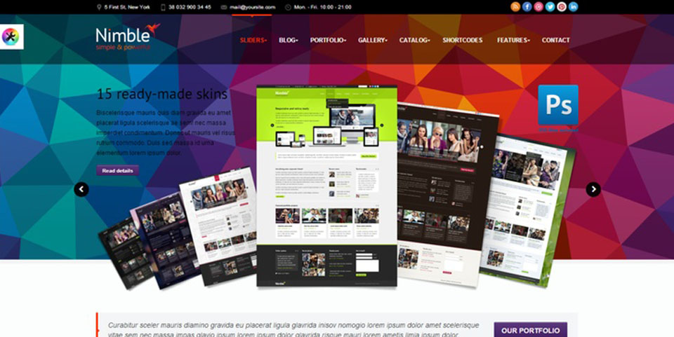 Nimble — Multipurpose Retina Ready WordPress Theme