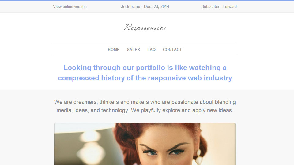 Resposensive - Responsive Email Templates