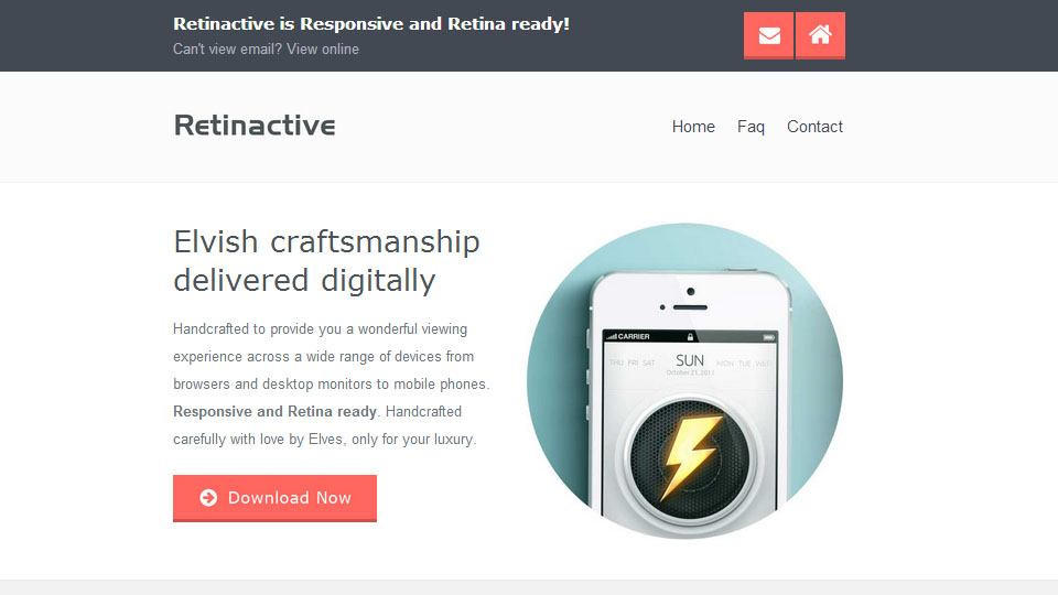 Retinactive Responsive Flat Email Template