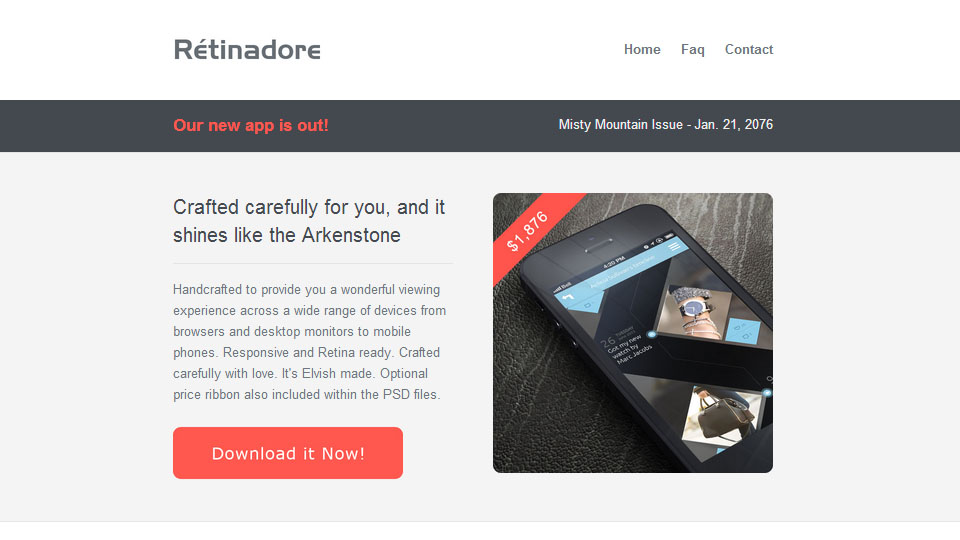 Retinadore - Responsive Email Newsletter Template