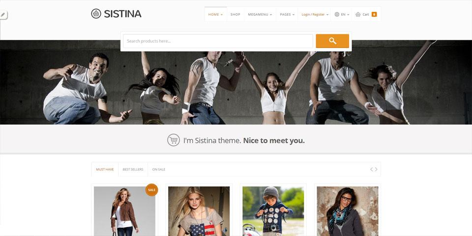 Sistina - Flat Multipurpose Shop Theme