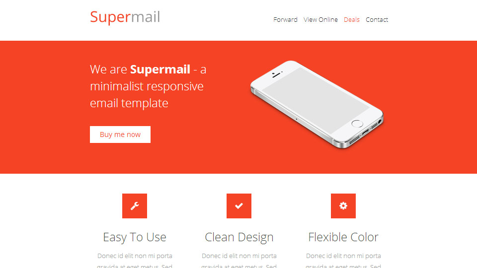 Supermail, Minimalist Responsive Email Template