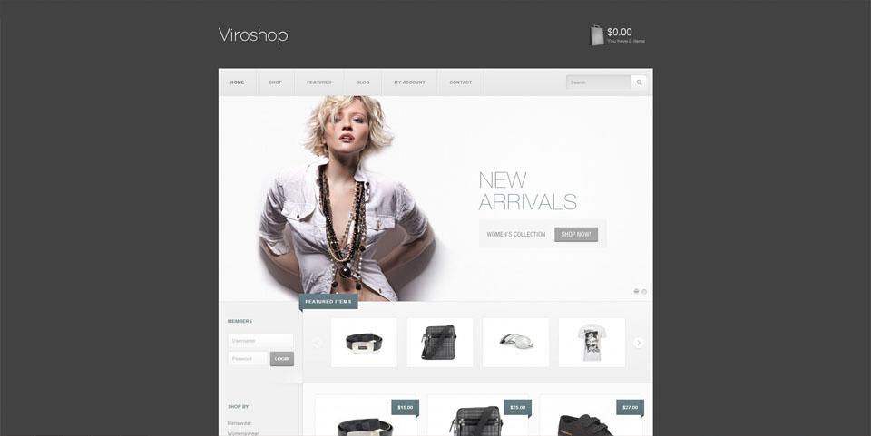 Viroshop - A Modern Responsive WooCommerce Theme