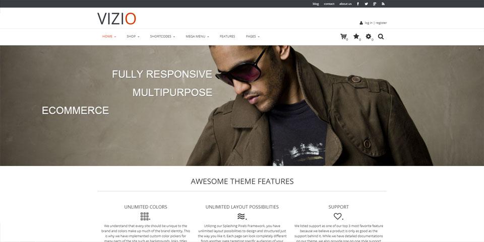 Vizio – Multipurpose e-Commerce Ready WordPress Theme