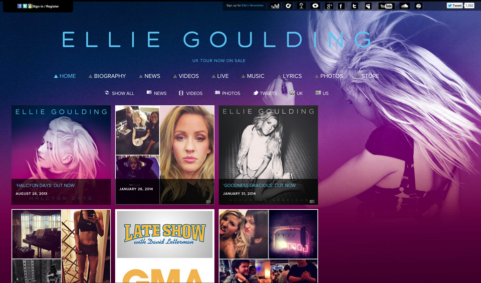 elliegoulding-wordpress-homepage