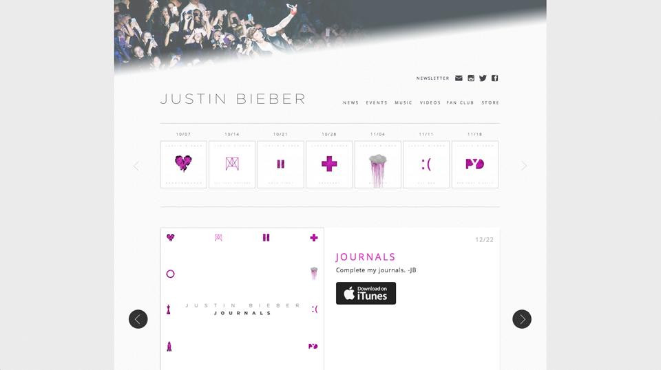 justinbieber-wordpress-homepage