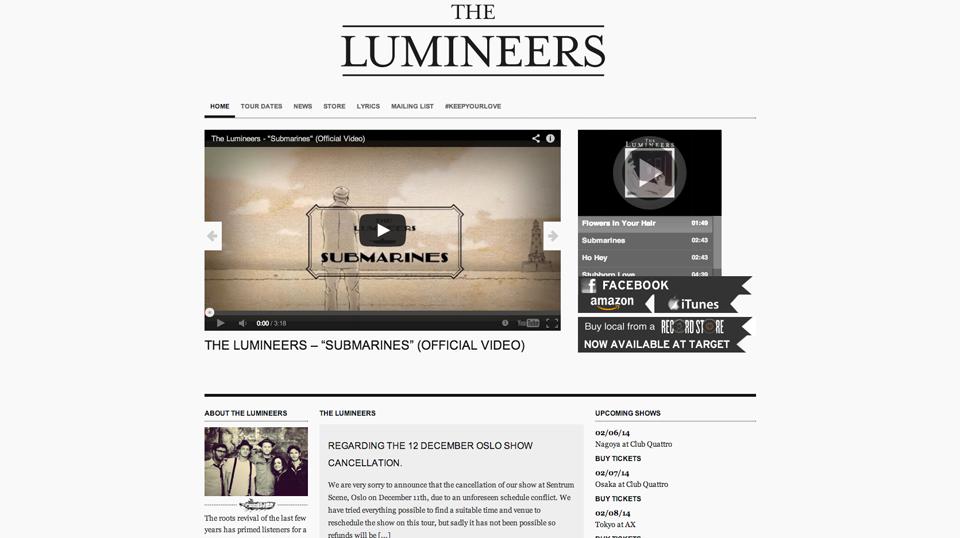 thelumineers-wordpress-homepage